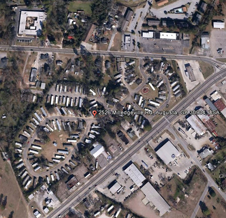 Google Earth Page Augusta Estates Mobile Home Park Georgia A Family All Age Trailer